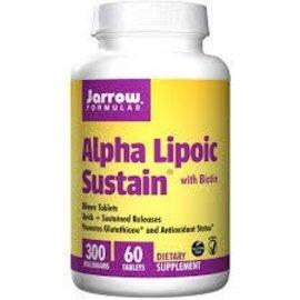 JARROW FORMULAS Alpha-Lipoic Acid w/Biotin 300mg SR 60T