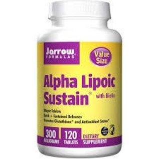JARROW FORMULAS Alpha-Lipoic Acid w/Biotin 300mg SR 120T