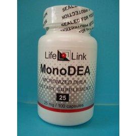LIFELINK MonoDEA Micronized DHEA 25mg 100c