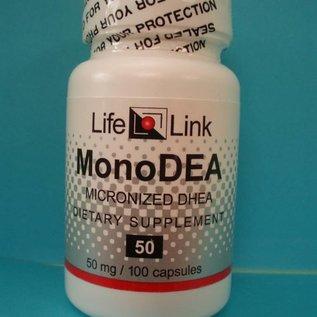 LIFELINK MonoDEA Micronized DHEA 50mg 100c
