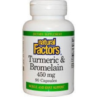NATURAL FACTORS Turmeric & Bromelain 90c