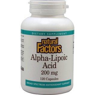 NATURAL FACTORS Alpha-Lipoic Acid 200mg 120c