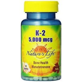 NATURE'S LIFE - NUTRACEUTICAL K2 5000mcg 60t