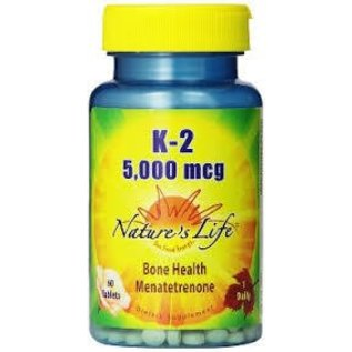 NATURES LIFE - NUTRACEUTICAL Nature's Life K2 5000mcg 60t