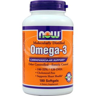 NOW FOODS Molecularly Distilled Omega-3 180sg