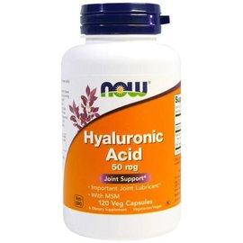 NOW FOODS Hyaluronic Acid/MSM 120V