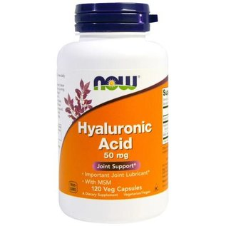 NOW FOODS Hyaluronic Acid/MSM 120V