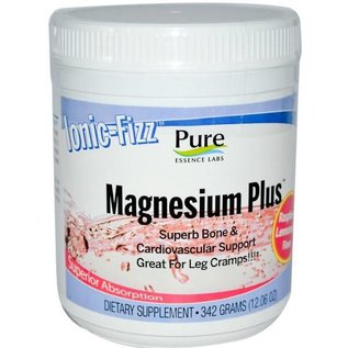 PURE ESSENCE LABS Ionic Fizz Magnesium Plus Raspberry/Lemon 342gm