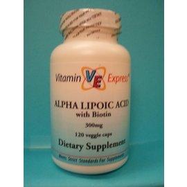 Alpha-Lipoic Acid w/Biotin 300mg 120v