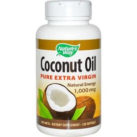 NATURE'S WAY Coconut Oil 1000mg 120sg