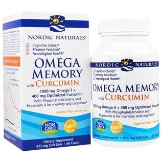 NORDIC NATURALS Omega Memory w/Curcumin 60sg