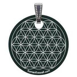 RAYGUARD RayGuard Black Flower of Life Pendant