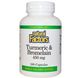 NATURAL FACTORS Natural Factors Turmeric Bromelain 180c Vitamin Express
