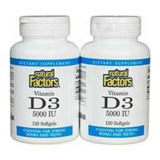 NATURAL FACTORS Natural Factors D3 5000iu 120+120sg  Twin Pack