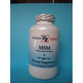 VITAMIN EXPRESS MSM (Methylsulfonylmethane) 1000mg 120 Veggie Capsules Vitamin Express