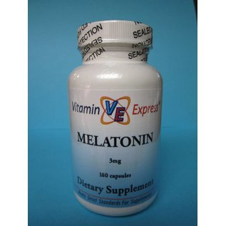 VITAMIN EXPRESS Melatonin 3mg 180 Capsules Vitamin Express