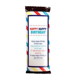Popcorn Tree Primary Birthday Candy Bar Wrappers - Small, 6ct