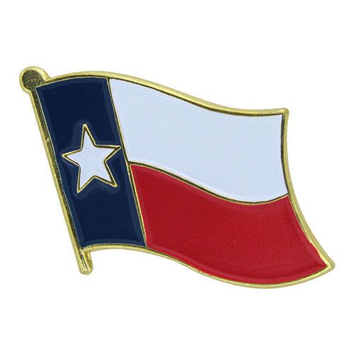 Online Stores Lapel Pin - Texas Flag
