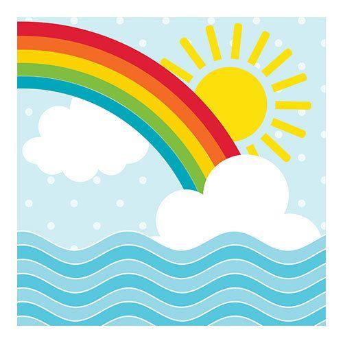 Creative Converting Noah's Ark - Rainbow Napkins, Beverage