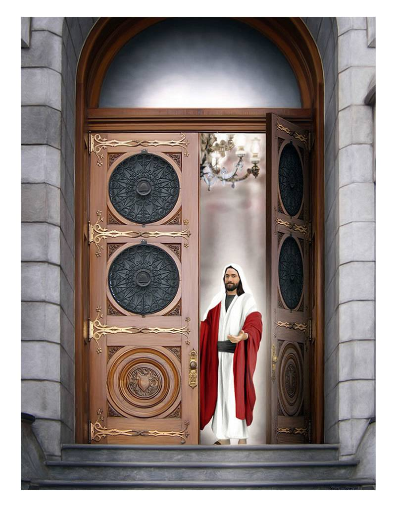 "Brent Borup Card - Christ at the Door, 3"" x 4"""