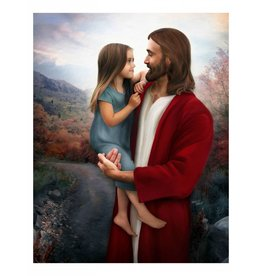 Brent Borup Card - Christ with Girl, 3x4