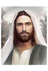 Brent Borup Card - Christ with Gray 3x4