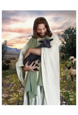Brent Borup Card - Christ with Lamb 3x4