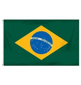 Popcorn Tree Flag - Brazil 3'x5'
