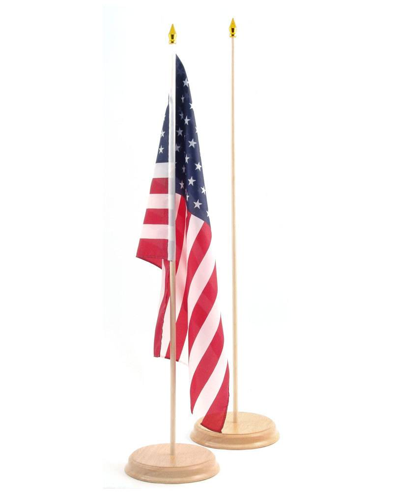 "Online Stores Flag Base - Wood, 1 Hole for 12""x18"""