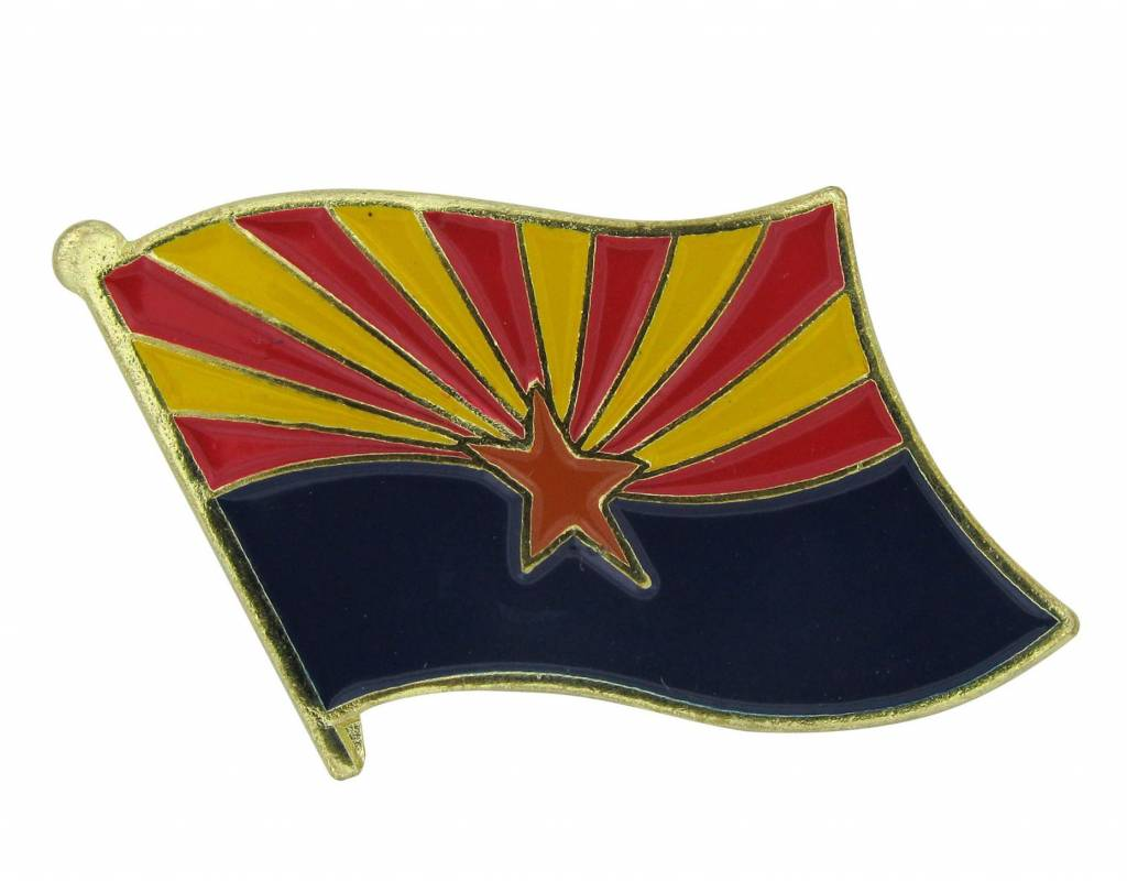 Online Stores Lapel Pin - Arizona Flag