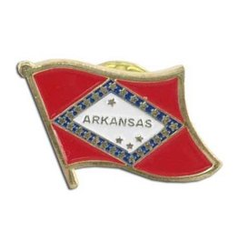 Online Stores Lapel Pin - Arkansas Flag