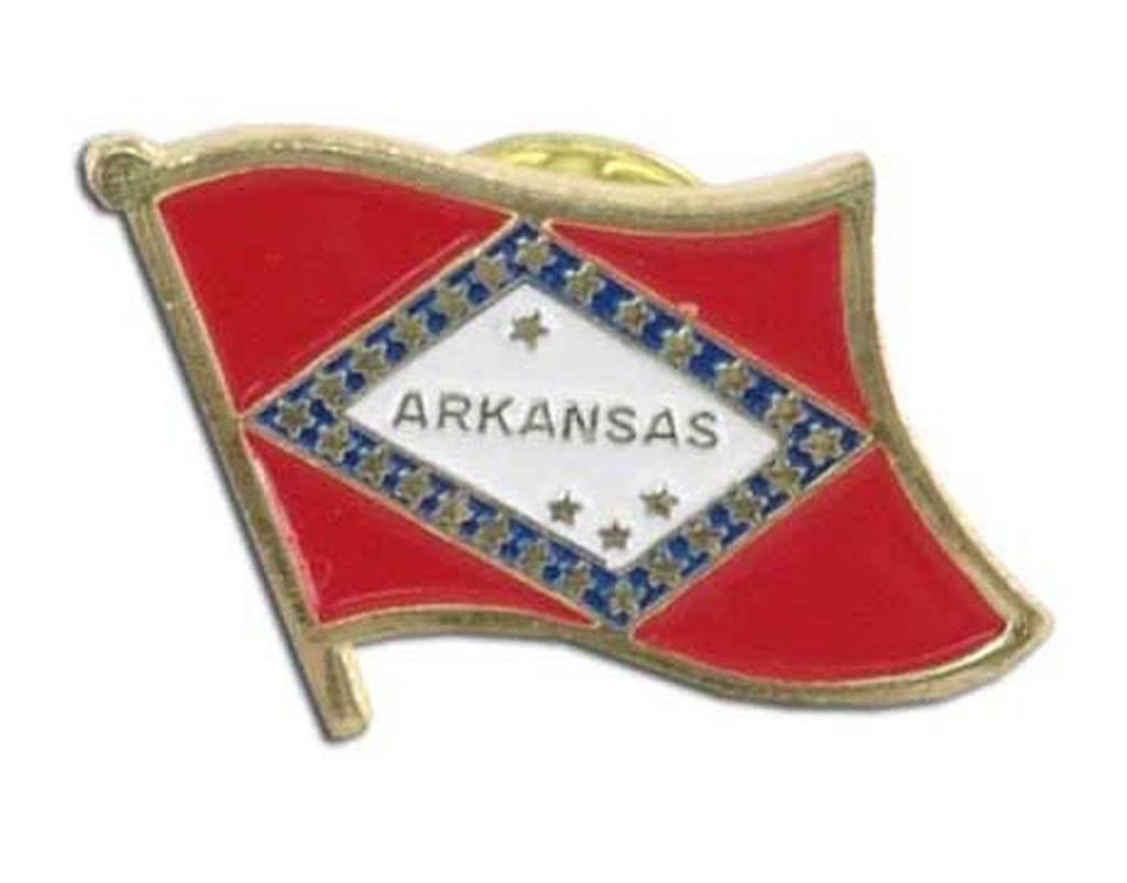 Online Stores Lapel Pin - Arkansas Flag