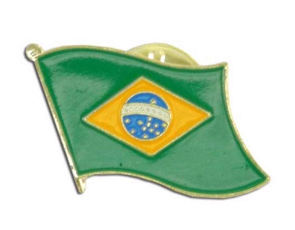 Popcorn Tree Lapel Pin - Brazil Flag