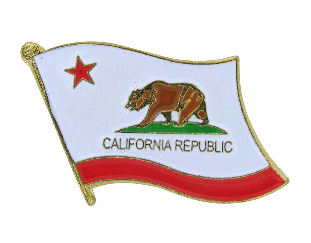 Online Stores Lapel Pin - California State Flag