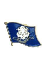 Online Stores Lapel Pin - Connecticut Flag