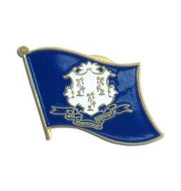 Online Stores Lapel Pin - Connecticut Flag