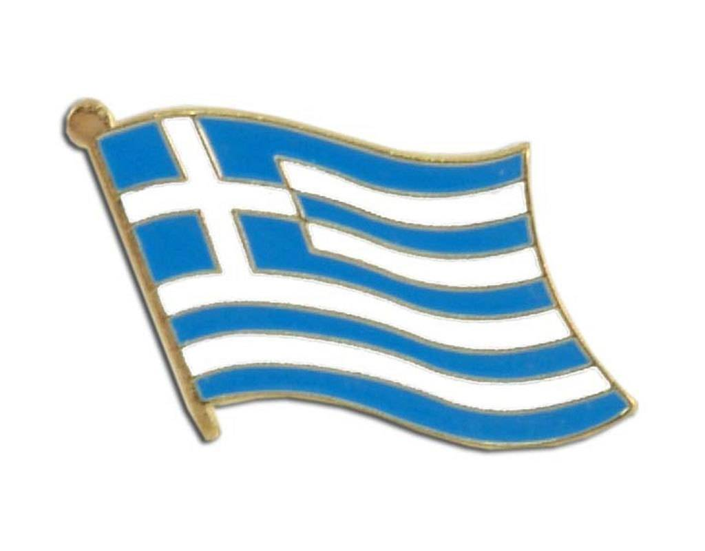 Online Stores Lapel Pin - Greece Flag
