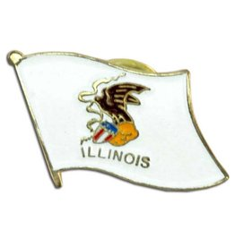 Online Stores Lapel Pin - Illinois Flag