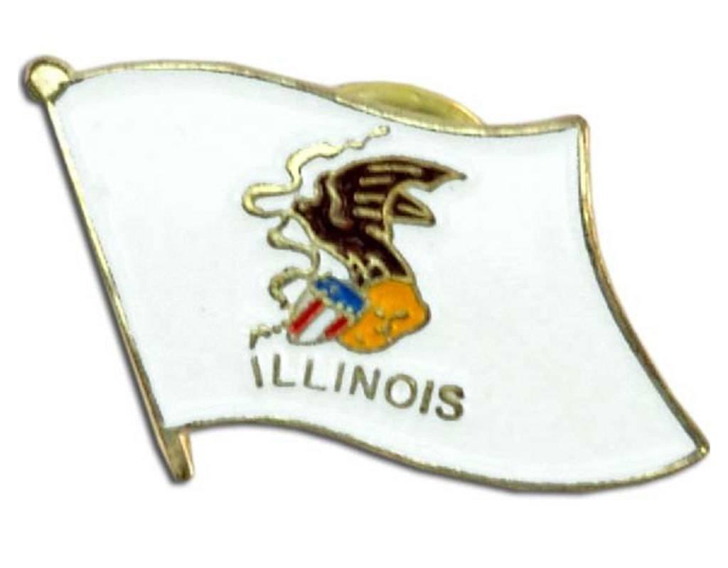 Online Stores Lapel Pin - Illinois Flag