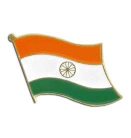 Popcorn Tree Lapel Pin - India Flag