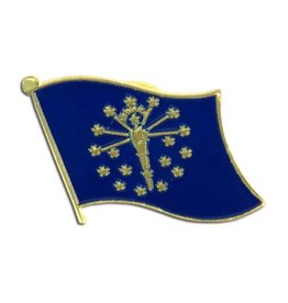 Online Stores Lapel Pin - Indiana Flag