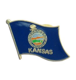 Online Stores Lapel Pin - Kansas Flag