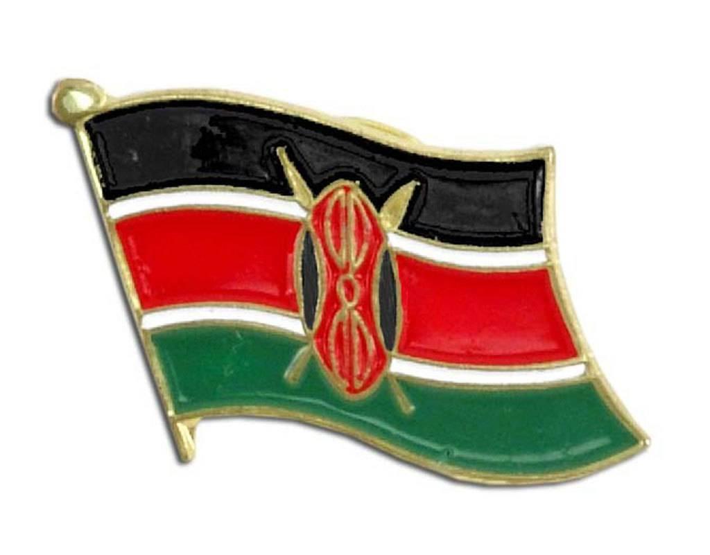 Online Stores Lapel Pin - Kenya Flag