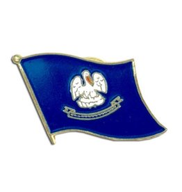 Online Stores Lapel Pin - Louisiana Flag