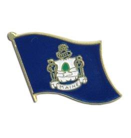 Popcorn Tree Lapel Pin - Maine Flag