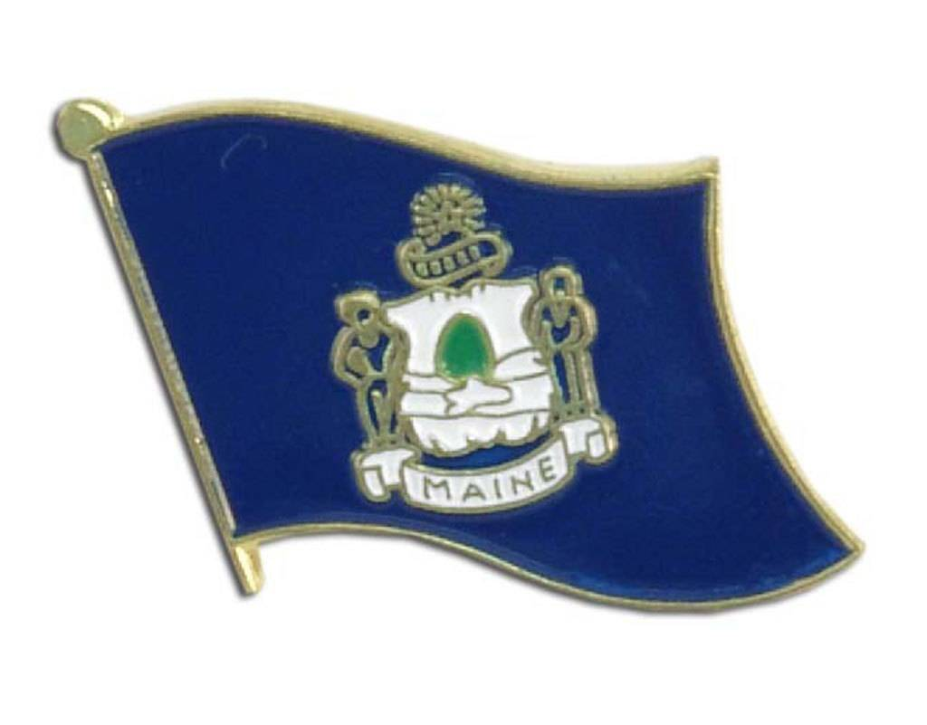 Online Stores Lapel Pin - Maine Flag
