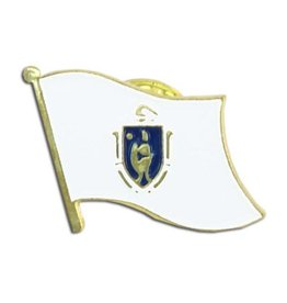 Online Stores Lapel Pin - Massachusetts Flag