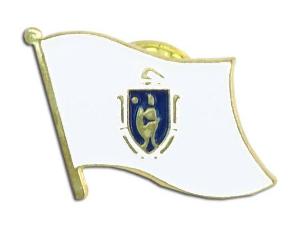 Online Stores Lapel Pin - Massachusetts Flag