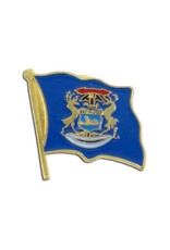 Online Stores Lapel Pin - Michigan Flag