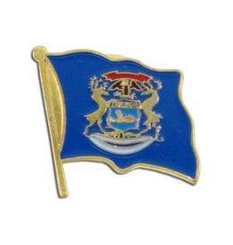 Online Stores Lapel Pin - Michigan Flag